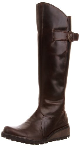 Fly London - Mol Leather, Stivale da donna, Marrone (Braun (Dk Brown)), 38 EU