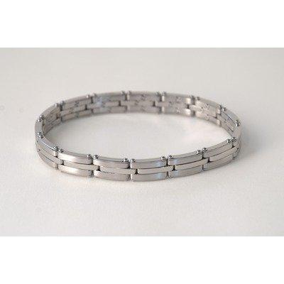 Ident Men's Expansion 2 Tone Chain Bracelet in White