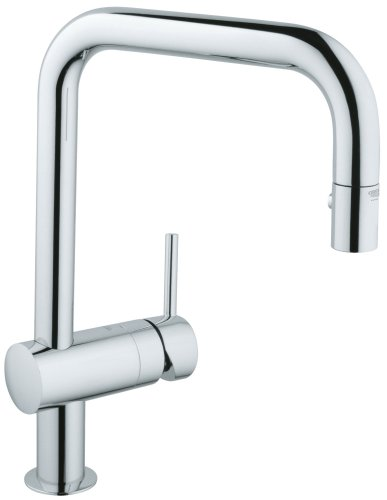 GROHE 32319000 Minta Dual Spray Pull Down Kitchen Faucet, Chrome