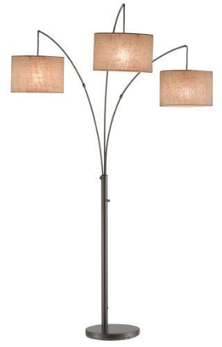 Adesso 4238-26 Trinity Arc Lamp, Antique Bronze picture