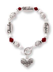 Teacher Silver & Crystal Expressively Yours Bracelet