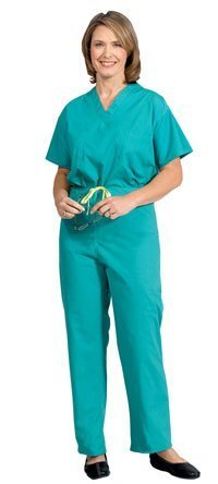 896-L PT# 896-L- Pants scrub Poly/ Cotton Fashion Unisex Jade Green Lg Drwcrd Ea by, Fashion Seal (Fashion Seal compare prices)