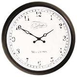 Nextime - Aaltje Wall Clock - 35 Diameter - Metal - Glass - Black