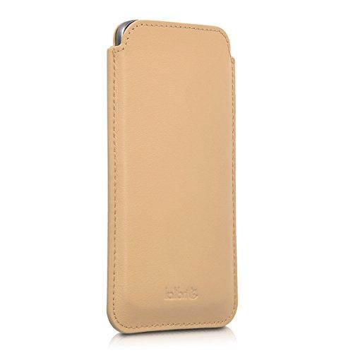 kalibri-Leder-Tasche-Hlle-fr-Samsung-Galaxy-S7-Handy-Case-Cover-Echtleder-Schutzhlle-in-Sand
