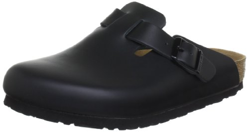 Birkenstock Boston , Zoccoli unisex adulto - Nero, 42 EU (stretta)