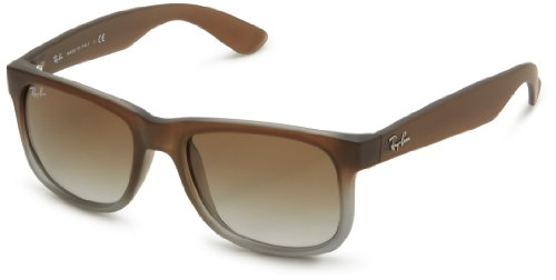 Ray-Ban MOD. 4165 Occhiali da Sole Unisex, Marrone (Rubber Brown On Grey), 51 mm