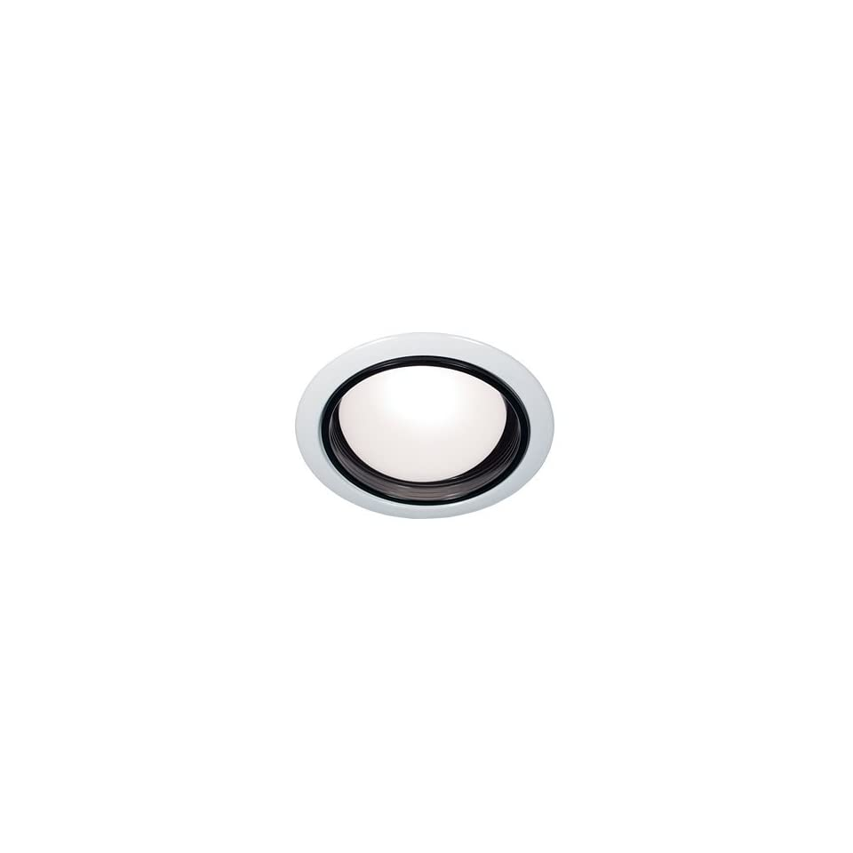 Bazz Lighting 400 R30 White and Black RF R30 RF R30 Series Single Light 5 Inch Recessed Light Fixture for Interior or Exterior Installations Finished in White and Black