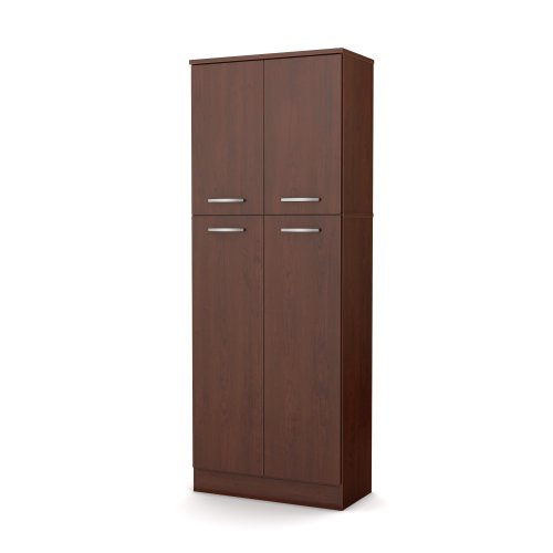 South Shore Axess Storage Pantry, Royal Cherry Natural Cherry 2 Door Cabinet