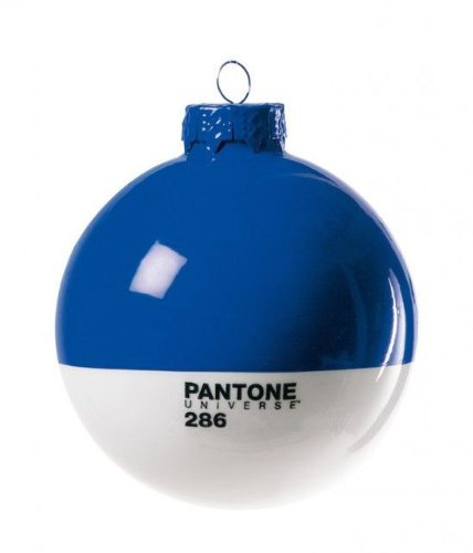 Christmas-Pantone® 286 Glass Ball Ø Cm.8 - Blue
