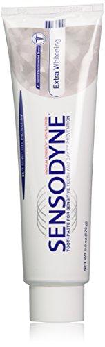 Sensodyne Extra Whitening Sensitivity Toothpaste for Sensitive Teeth Whitening, 6 Ounce (Pack of 3)