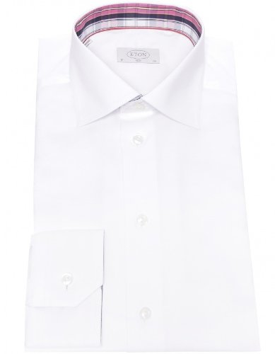Eton Men's Shirt White Slim Fit Formal UK 15.5