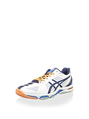 Asics Zapatillas Deportivas Gel-Volley Elite 2 (Blanco / Azul Marino / Azul)