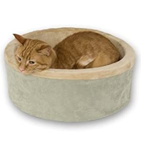 K&amp;H Thermo-Kitty Bed, 16-Inch Diameter, Sage
