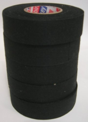 ICE HOCKEY BLACK STICK TAPE MULTI PACK OF 5 ROLLS