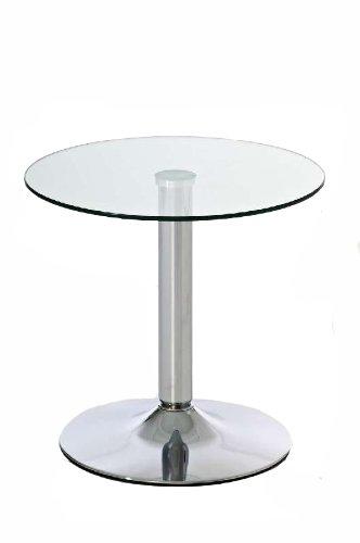 CLP-Glas-Tisch-IKARUS-rund-Durchmesser--50-cm-Hhe-48-cm-Metallsule-in-Chromoptik-mit-Tischplatte-aus-Sicherheitsglas-klarglas