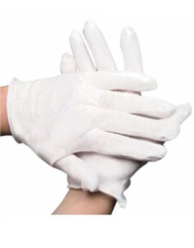 Teen Ladies Child White Sheer Economy Costume Gloves