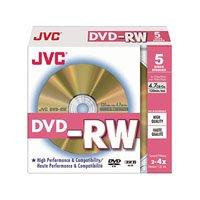 JVC - Taiyo Yuden DVD-RW Photo Grade Discs 2-4x Speed Discs in a 5 Pack, Jewel Case