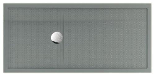 Novellini Olympic Plus Duschwanne, 170x80x4,5cm, grau (RAL 7037)