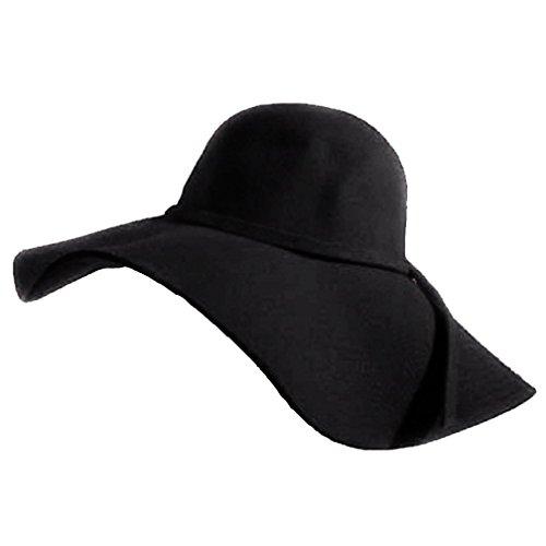 Luxury Divas Sensational Black Wide Brim Diva Style Floppy Hat