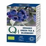 (Pack of 6) Qi - Organic Green Tea & Blueberry 20 Bag