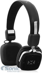 NVX XBTL6 Bluetooth Headphones Wireless Bluetooth On-Ear Stereo Headphones with ComfortMax Ear Cushions and Wired Option