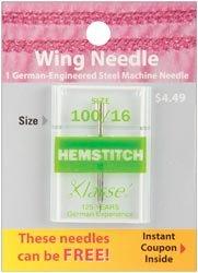 Bulk Buy: Klasse Hemstitch Machine Needles 100/16 1/Pkg A5157-10016 (5-Pack)