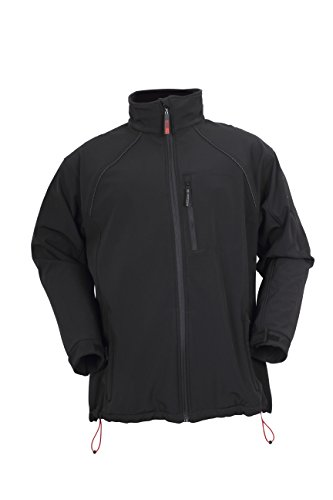 Blackrock Dartmoor  - Giacca Soft Shell da lavoro, impermeabile, anti vento, in pile, colore nero, nero