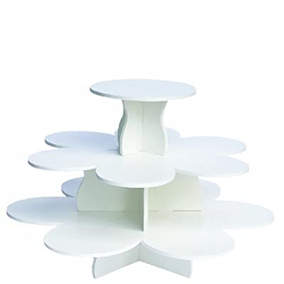 "The Smart Baker 3 Tier Flower Cupcake Tower Stand Holds 48+ Cupcakes ""As Seen on Shark Tank"" by The Smart Baker"