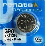 renata レナータ 390 1個 酸化銀ボタン電池(SR1130S)※スウォッチグループ/スイス製【並行輸入品】
