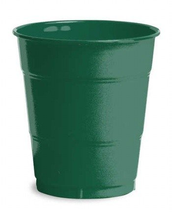 Creative Converting 240 Count Case Touch Of Color Plastic Cups, 12-Ounce, Hunter Green
