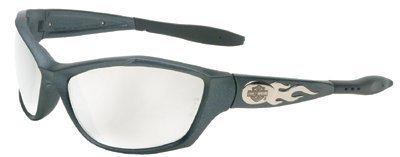 Harley-Davidson HD1002 Safety Glasses with Gunmetal Frame and Silver Mirror Tint Anti-Fog Hardcoat Lens