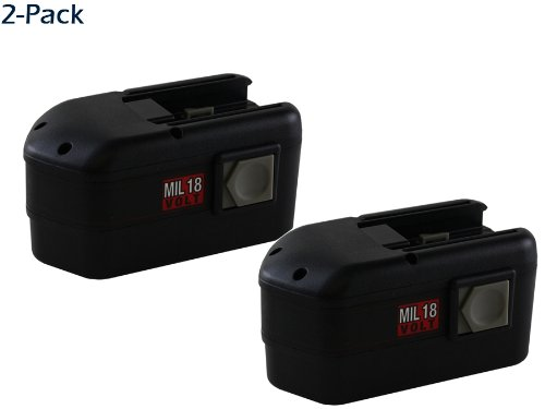 18 Volt Nicad Milwaukee 0901-28 Powertool Battery - Powerwarehouse Professional Grade 2-Pack High Capacity Battery