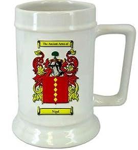 Nigel Family Crest Stein / Nigel Coat of Arms Stein