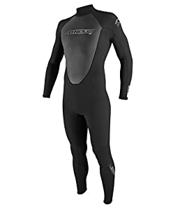 O'Neill Wetsuits Men's Reactor 3/2mm Full Suit, Black, X-Small