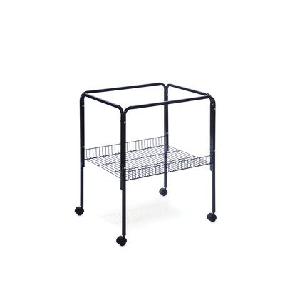 Cheap Rolling Stand with Shelf Black (SP2521S)
