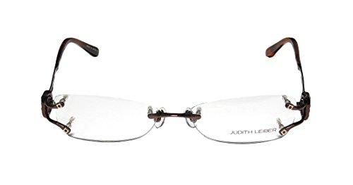 judith-leiber-1583-womens-ladies-designer-rimless-titanium-eyeglasses-eyeglass-frame-53-16-134-brown