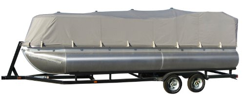 Image of GSI Super Quality All-Seasons Weather-Resistant Cover for Pontoon Boat - Size: 17' to 19.6', Up to 96