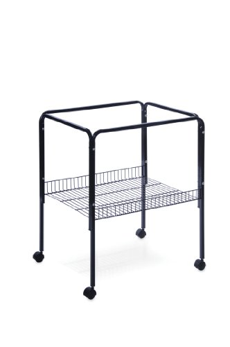 Image of Prevue Pet Products Rolling Stand with Shelf, Black (SP2521S)