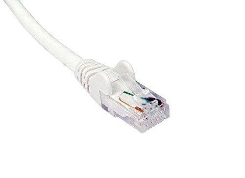 Càble 5m BLANC réseau CAT6 - Premium Quality (100% fil de cuivre) - RJ45 - Ethernet - Patch - LAN - 10/100/1000 - Gigabit