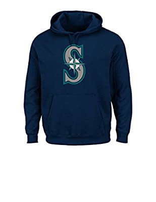 MLB Hooded Long Sleeve Tek Patch Team Color Fleece