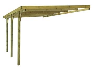 Carport capri double bois 30 3m2 2 voitures Prix piscine 4x6