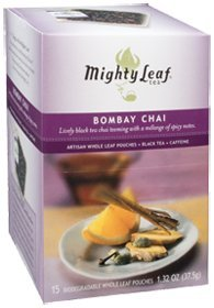 Mighty Leaf Tea Company - Bombay Chai, 15 tea bags from Mighty Leaf Tea Company