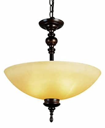 2 light rubbed oil bronze pendant