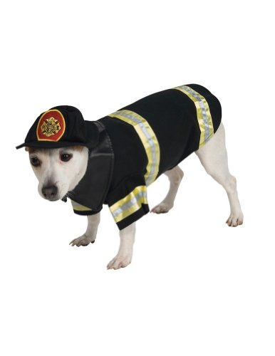 Cat & Dog Costume Firefighter Xl (Dog Firefighter Costume)