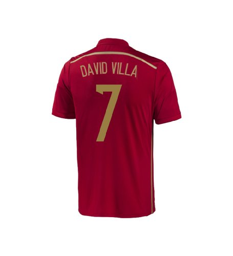 Adidas DAVID VILLA #7 Spain Home Jersey World Cup 2014 YOUTH (YL)