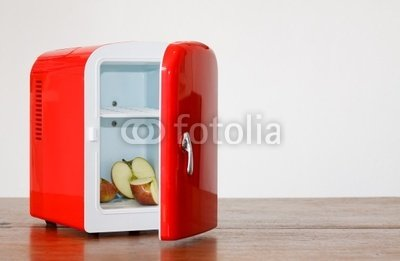 Wallmonkeys Peel and Stick Wall Decals - Red Miniature Fridge - 18