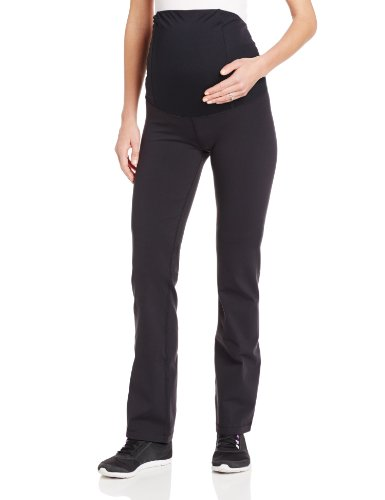 Ingrid & Isabel Women'S Crossover Panel Active Maternity Pant - Long, Jet Black, Large front-611414