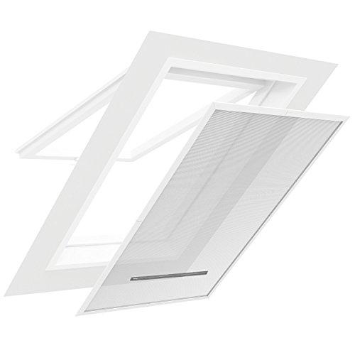 easy life fliegengitter f r dachfenster 140 x 170 cm mit pvc klemmrahmen sonnenschutz und. Black Bedroom Furniture Sets. Home Design Ideas