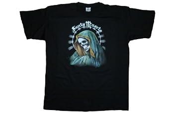 DarkArt-Designs Gothic T-Shirt Santa Muerte regular fit, Black, M