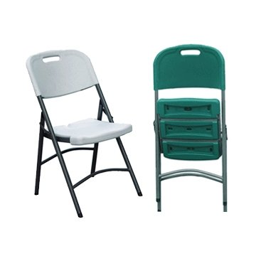 2 x Palm Springs Deluxe Folding Chairs White